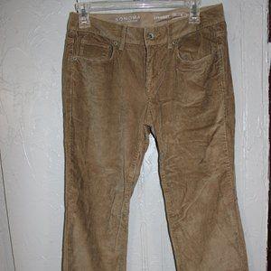 Sonoma Tan Corduroy 4 Straight Leg Pants